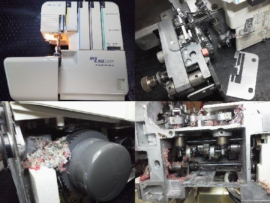 ジャノメロックミシン修理mylock250d