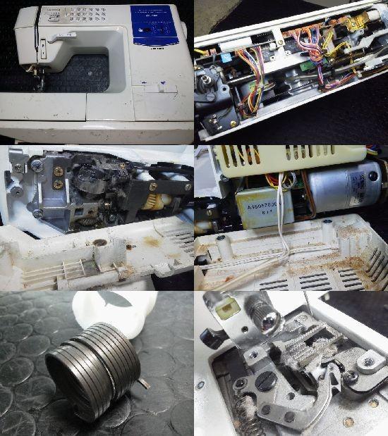 JUKI HZL-7800 ミシン修理分解画像