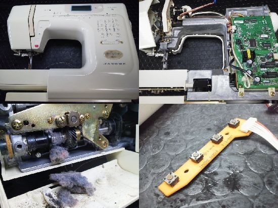 ジャノメ/メモリークラフト5150/ミシン修理