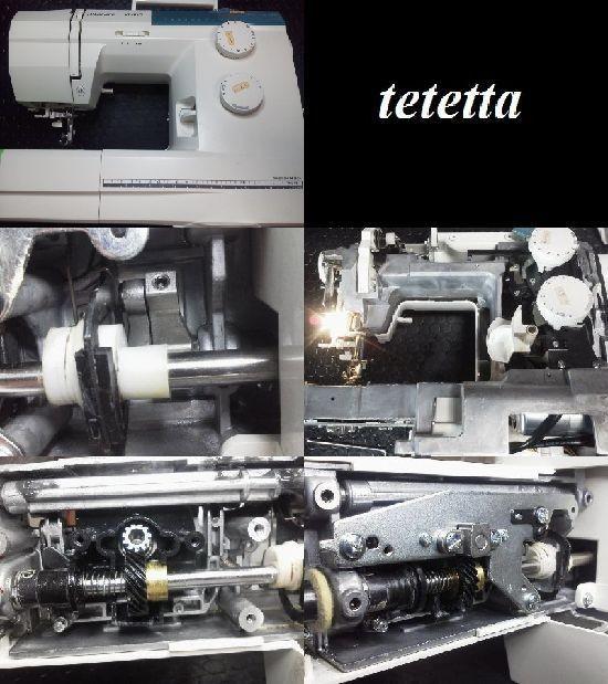 ハスクバーナ エメラルド122 ミシン修理分解画像