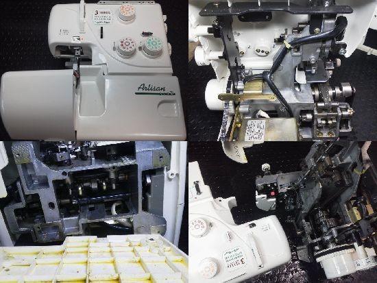 ジューキロックミシン修理分解画像 アーチザン370D