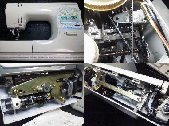 ジャノメ ホームレザー100 ミシン修理分解画像