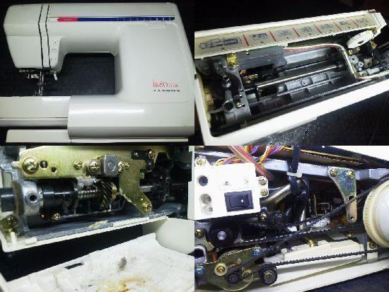 ジャノメミシン修理分解画像 リリオ5000