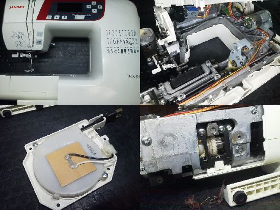 ジャノメミシン ME830 ミシン修理分解画像